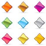 Amostra lustrosa tailandesa do ícone do botão do vetor Foto de Stock Royalty Free