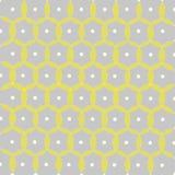 Amostras com círculos e pontos, cinza, amarelo Foto de Stock Royalty Free