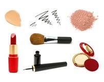 Amostras cosméticas decorativas do produto Imagens de Stock Royalty Free