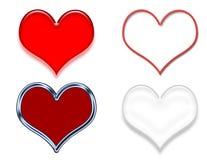 Amostras da arte de grampo do coração Ilustração Royalty Free