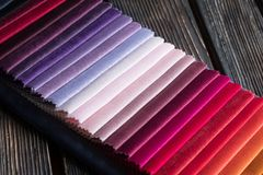 Amostras da cor de uma tela Foto de Stock