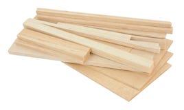Amostras da madeira de balsa fotografia de stock royalty free