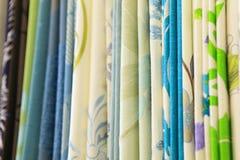 Amostras de cortinas clássicas Fotografia de Stock Royalty Free
