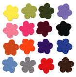 Amostras de feltro da cor da flor Imagens de Stock Royalty Free