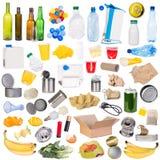 Amostras de lixo isoladas no fundo branco Imagem de Stock