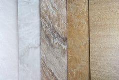 Amostras de mármore Imagem de Stock