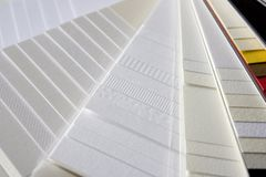 Amostras de papel Fotografia de Stock
