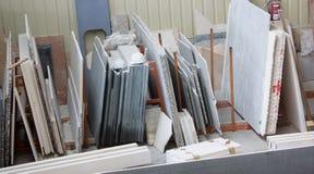Amostras de vários tipos de mármore Foto de Stock