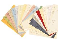 Amostras do papel e do cartão Imagem de Stock