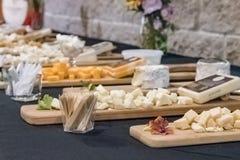 Amostras do queijo fotos de stock