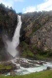 Amotan vattenfall, Norge Royaltyfri Fotografi