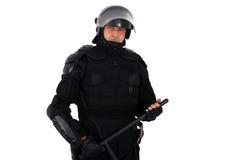 Amotine o polícia Imagem de Stock Royalty Free