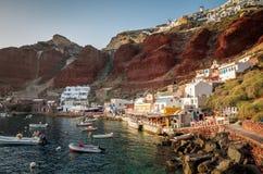Amoudi, île de Santorini, Grèce Photo libre de droits