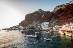Amoudi, île de Santorini, Grèce Photos libres de droits