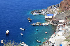 Amoudi bay , Oia village in Santorini island, Greece. Royalty Free Stock Image