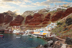 Amoudi bay, Santorini, Greece Stock Photography