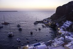 Amoudi-Bucht Stockbilder