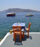 Amoudi Santorini Stockfoto