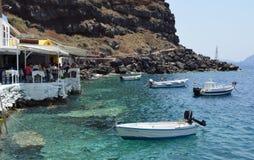 Amoudi-Ufer-Restaurants Stockfoto