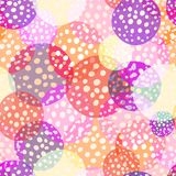 Amount circles seamless beautiful pattern. Repeat holiday dots texture background Royalty Free Stock Photo