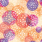 Amount circles seamless beautiful pattern. Repeat holiday dots texture background, vector Stock Photo