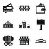 Amount of money icons set, simple style. Amount of money icons set. Simple set of 9 amount of money vector icons for web isolated on white background Royalty Free Stock Photos