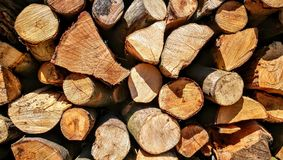 Amount of wood Stock Image