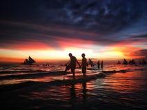 Amour à Boracay Images stock