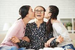 Amour à la grand-mère Images libres de droits