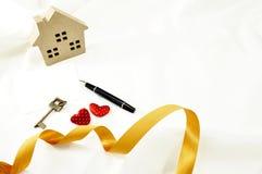 Amour à la maison avec le massage des textes au bonbon Image libre de droits