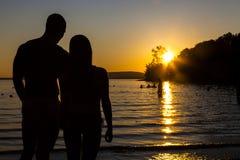 Amour à la plage image stock
