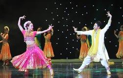 Amour à la première vue-danse de l'Inde Images libres de droits