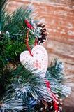 Amour à Noël Photographie stock libre de droits