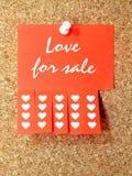 Amour à vendre Photo stock