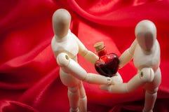 Amour échangé Images stock