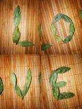 Amour écrit avec des lames Photographie stock