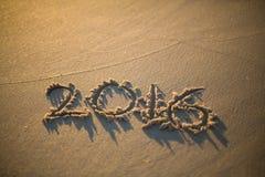 amour écrit sur la plage Photo libre de droits