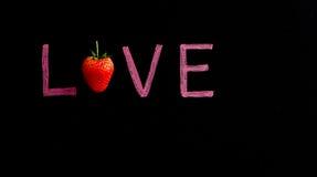 Amour écrit sur le tableau noir Image libre de droits
