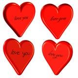 amour 3D vous coeurs Photos stock