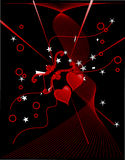 Amour abstrait Photographie stock