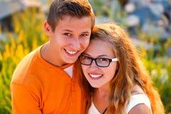 Amour adolescent Photos stock