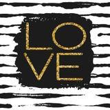 Amour - affiche romantique Photos stock