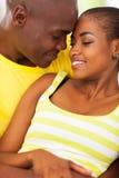 Amour africain de couples Images libres de droits