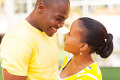 Amour africain de couples Images stock