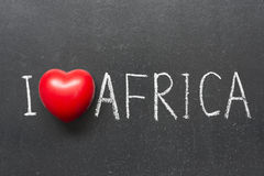 Amour Afrique Photo stock