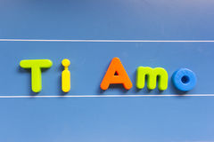 Amour : AMO de Ti Image stock