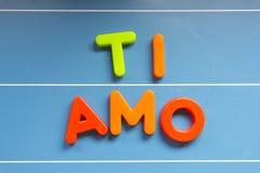 Amour : AMO de Ti Photos libres de droits