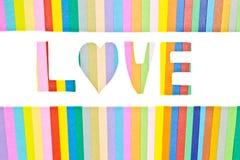 Amour, art de papier Images libres de droits