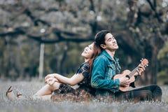 amour asiatique de couples Photo libre de droits
