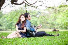 amour asiatique de couples Photographie stock libre de droits